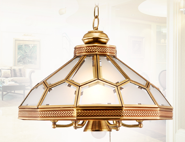 European all copper lamps, American restaurant, dining room, garden, tin, tin, chandelier, American style Chandelier