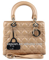 Good quality wholesale cowhide leather women genuine leather handbag
