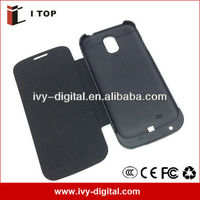 3200mAh Power phone case for Samsung Galaxy S4 i9500 with flip cover