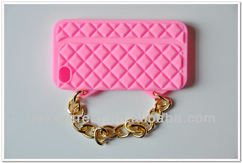 Wristlet Chain silicone cover/case for iphone 5