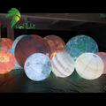 Hot sale inflatable planet balloons, concert led light inflatable planets ball