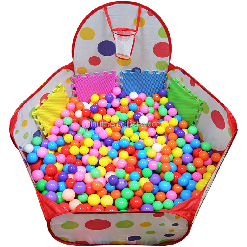 Safe 60mm Blue PE Colorful Outoor LDPE Soft Ball, Baby Kid Swim Pit Toy Plastic Water Pool Ocean Ball