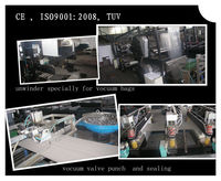 Fully Automatic 3 side seal zipper Vocuum Bag Making Machine with valve attaching