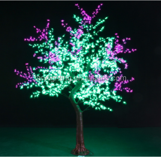 High led cherry tree lamp,1728 leds led palm tree light