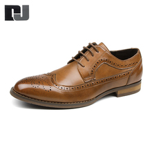 Sell well comfort formal handmade men ventilation leather dress shoes