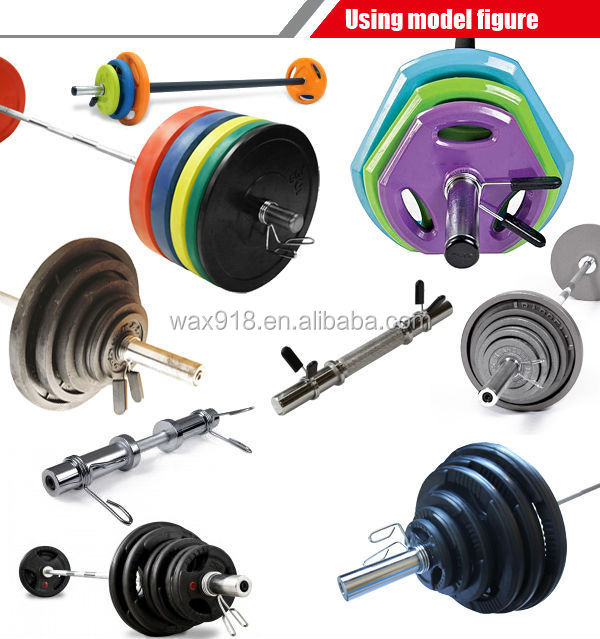 NANTONG WAX SPORTS 14'' threaded bar with two collars,weightlifting bar,barbell