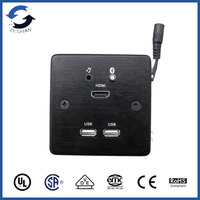 ZS86 Black Aluminum Wall Plates with bluetooth and USB Charger