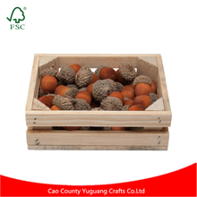 YG Crafts Customize Made Unfinished Stackable Wooden Fruit Crates Wholesale