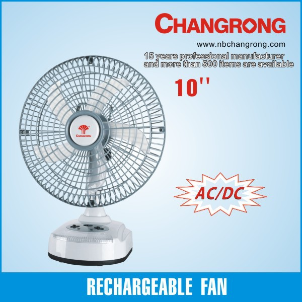 rechargeable emergency fan with led light portable cooling fans table fan with battery