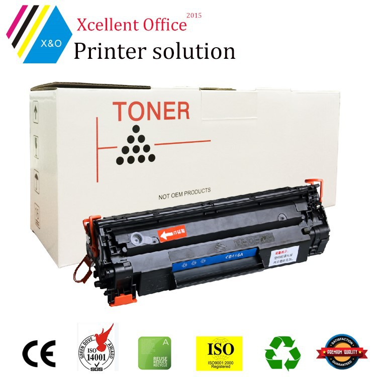 CB436A, 36A, 436A Laser black toner cartridge for HP Laserjet P1505/1522/P1319/M1120, Best price made in zhuhai china factory