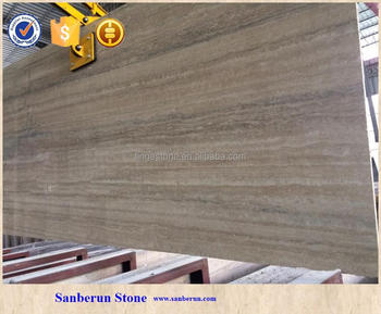 2017 High quality Italian Natural sliver & grey Travertine slab