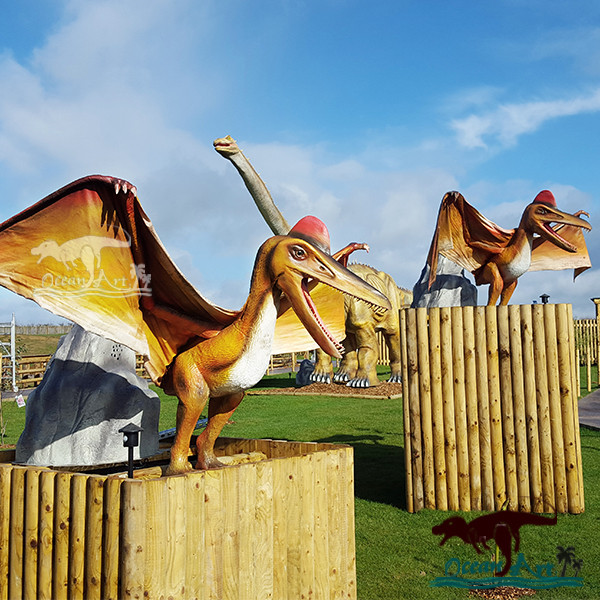 OAZ3032 Putt Golfbanen Cartoon Dinosaurus Standbeeld Voor Mini Golf Decor