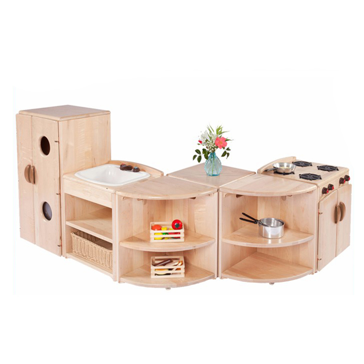 Hot Sale Montessori Kids Toy Kitchen Sets Wooden Kitchen Toy
