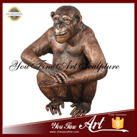 2016 Hot Sale Garden Decor Antique Bronze Monkey Statue