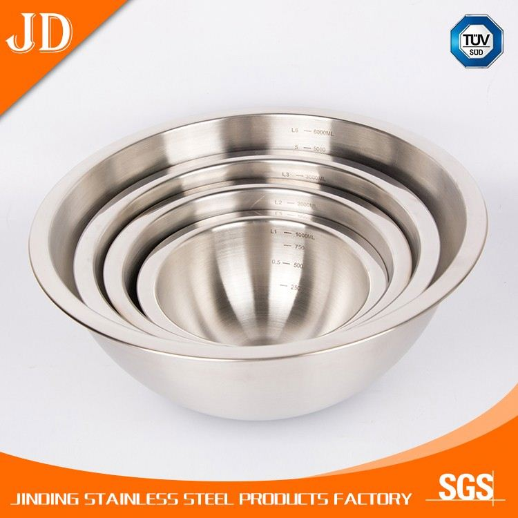 1000ml multi - functional stainless steel bowl for noodle / fruit / salad