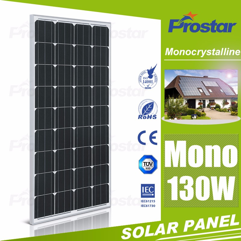 130w mono crystal solar chinese panels photovoltaic panel price