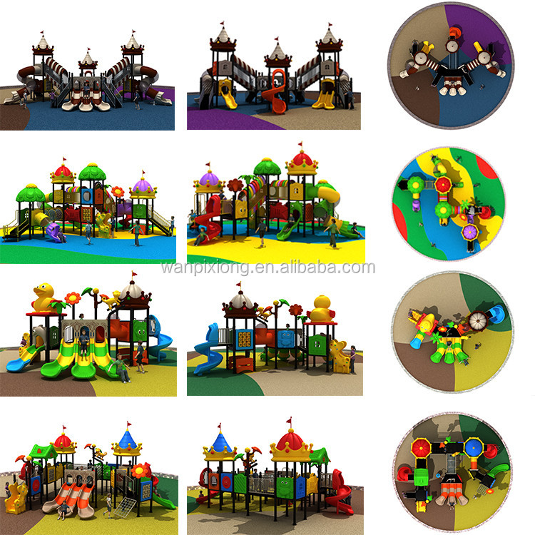 Beautiful attractive animal theme amusement outdoor playground equipment with slides
