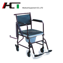 Portable Toilet Chair Home Care Products Easy Take indoor Disabled Shower Commode Wheel Chair With Wheels For Aged People