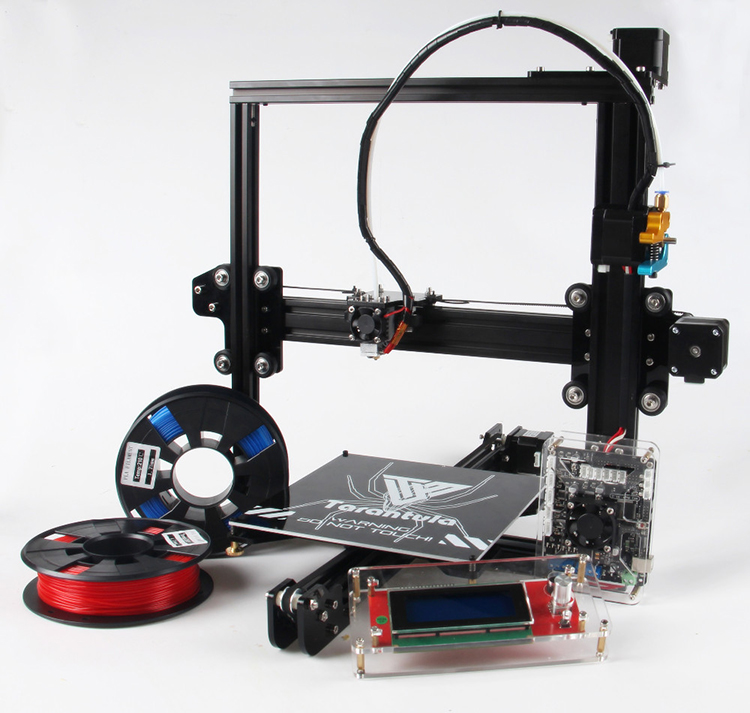 Free shipping TEVO Prusa I3 Automatic 3D digital Printer made in China with 2rolls of filament and SD card as gift