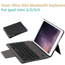 5mm Ultrathin Portable 7.9 inch Wireless Bluetooth Keyboard Smart Case For ipad mini 2 3 4