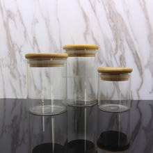 Free samples small round glass jar mini glass candy jar with dome lid wholesale