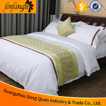 guangzhou song quan manufacture hospital white bed linen 300TC cotton flat bed sheet