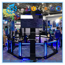 Funny games amusement park equipment 9d VR interactive shooting game with HTC vive