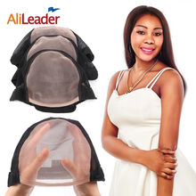 AliLeader Best Quality L M S Size Human Hair Lace Front Wig Nets, Adjustable MONO Wig Caps With Lace Front