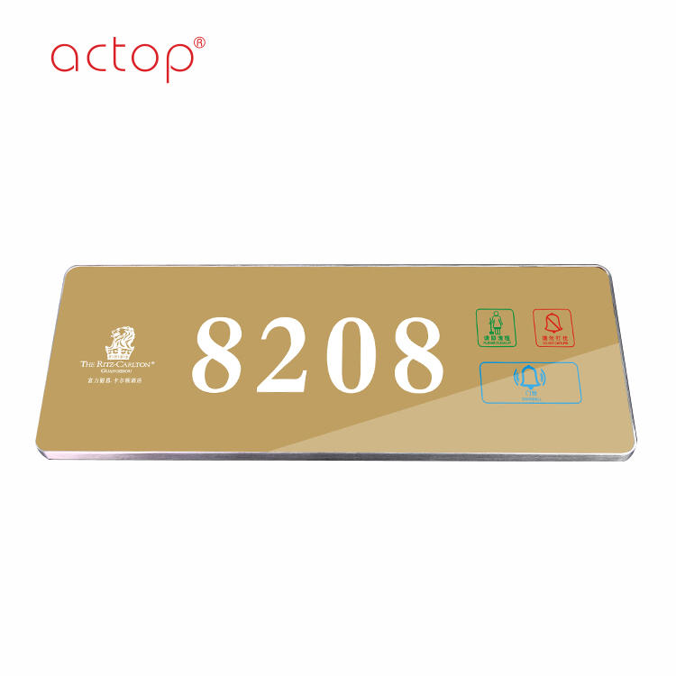 2018 Acrylic Room Number Sign,Acrylic Door Plate,hotel room door sign