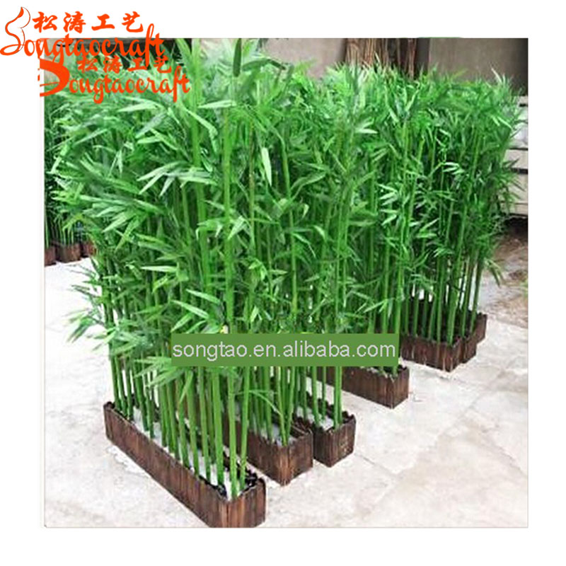 Wholesale Outdoor plastic Decoration plastic artificial lucky bamboo tree