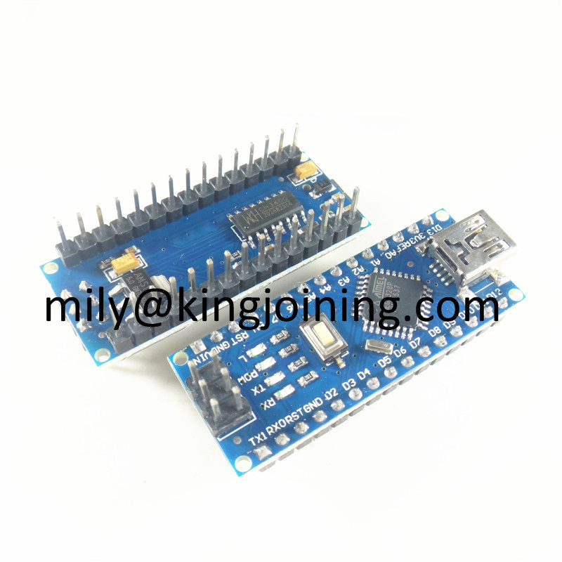 KJ302 pin header Soldered USB driver Nano V3.0 controller compatible with arduinos CH340 Nano V3.0 ATMEGA328P for Arduinos