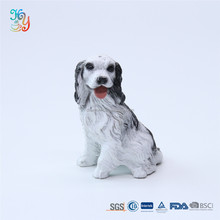 Hot sale resin crafts artificial dogs statue