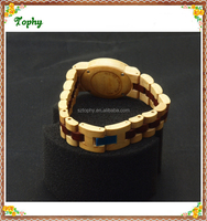 2016 Ladies natrual wooden bamboo bangle watches for small wrist