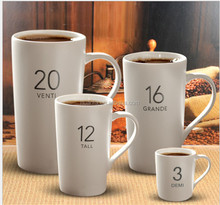 16 Ounce 2017 hot new product of custom private label tall ceramic sublimation coffee mug for promotion