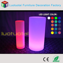 Eco-friendly PE plastic waterproof glowing LED cylinder lamp/ led cylinder light LTT-PC02A