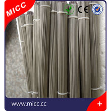 1000mm compensation cable isolated junction 1mm dia S type thermocouple with mineral insulation