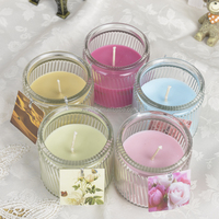 single candle a colorful printed box packaging Different Fragrance Professional Scented Candle