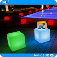 Fashionable hot sale LED illuminated light cubes furniture / LED cube chair and table