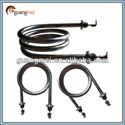 Immersed heating elements for water dispenser