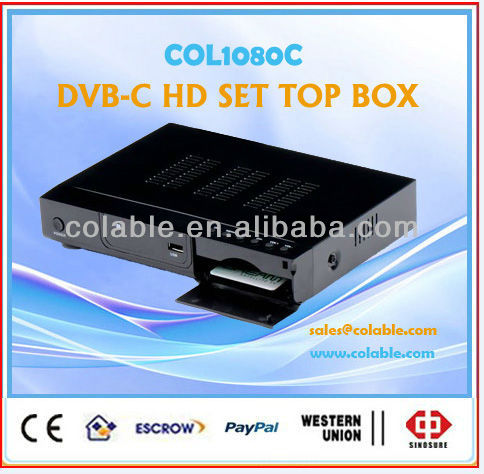 decoder box cable tv ,hd decoder dvb-c,hdmi cable tv set top box COL1080C