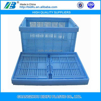 foldable Collapsible plastic basket mesh Crate for tomato agriculture
