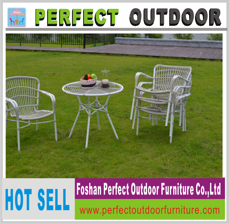 plastic rattan woven furniture outdoor coffee set