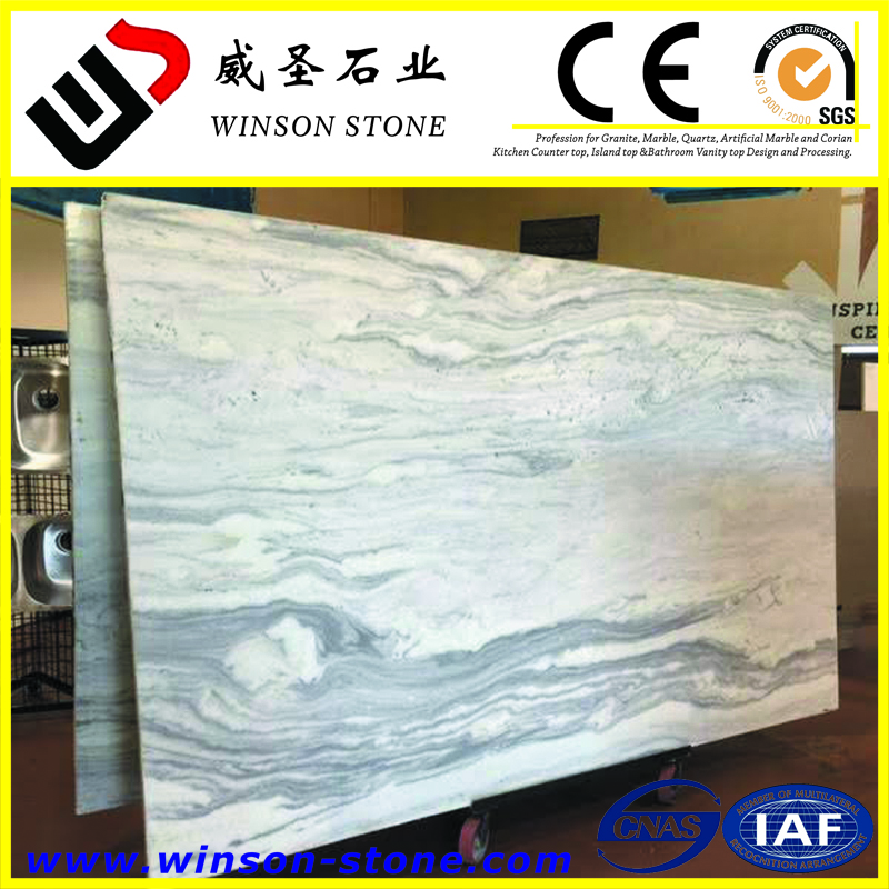 largest dimension is available Montana Gris Mont Blanc marble polished slab for sale