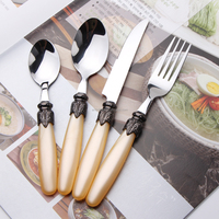 Retro mother of pearl cutlery food grade safe