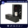 Luxury wood gift wine boxes wholesale high glossy piano lacquered black one bottle wooden wine boxes