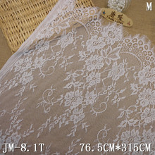 China online hot sale in stock white chantilly lace bridal lace fabrics