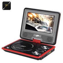 7 Inch Portable DVD Player with Game Function - Rotatable Screen, TFT Color Display, eBook, Game Controller