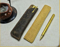 Genuine Leather Pen Leather Holder Slip Sleeve Case