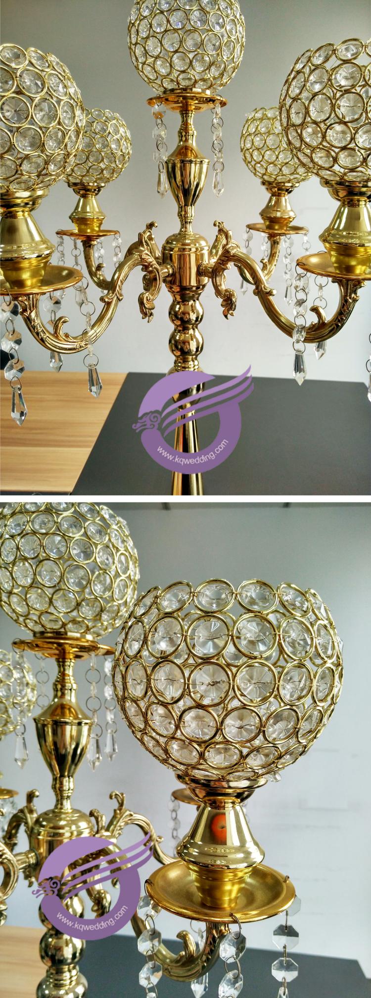 Zt wholesale wedding crystal globe centerpieces arm
