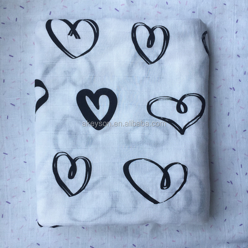 Wholesale Personalized Muslin Bamboo Fabric Striped Baby Wrap